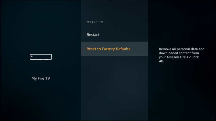 Click Reset to Factory Defaults