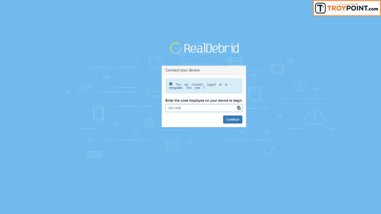 Real-Debrid Authorization Screen