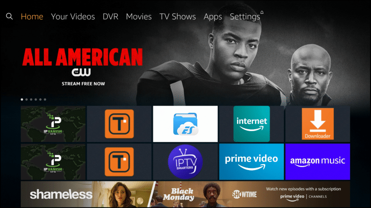 Go to home screen of Firestick, Fire TV, or Fire TV Cube
