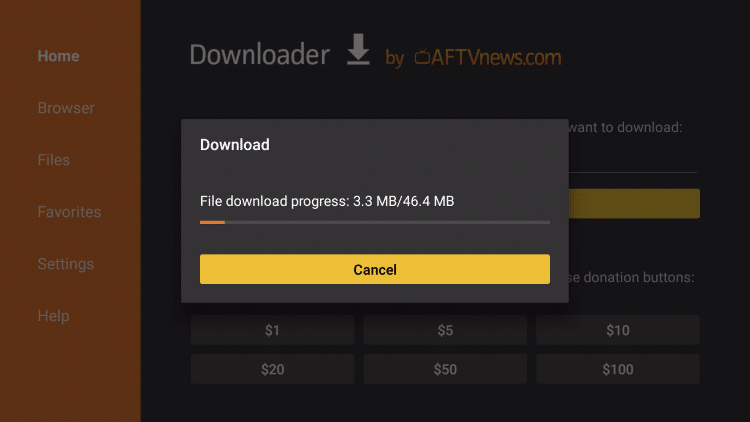 wait for file to download