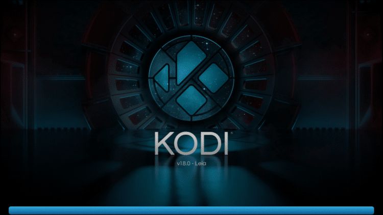 Kodi begins to load on Firestick
