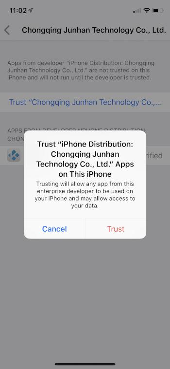 click trust again