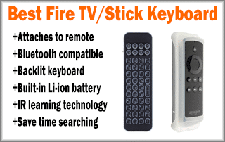 Best Fire TV / Firestick Keyboard - Attaches To Remote Control