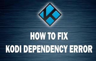 Fix Failed to Install Dependency Kodi