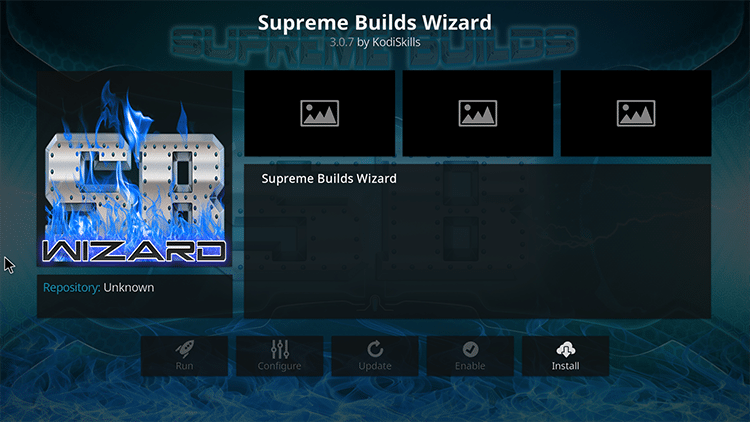 install supreme builds wizard