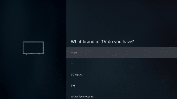 Choose your brand of tv