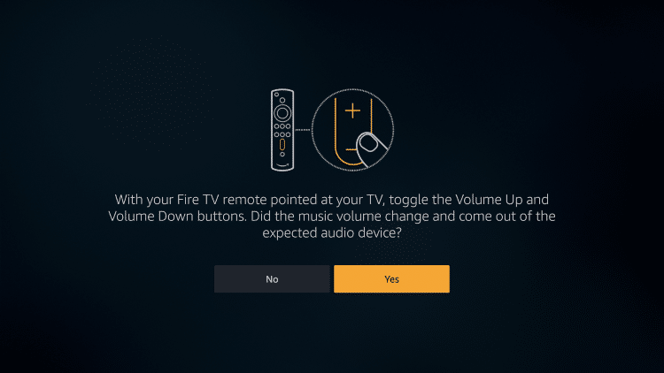 adjust the volume to sync remote