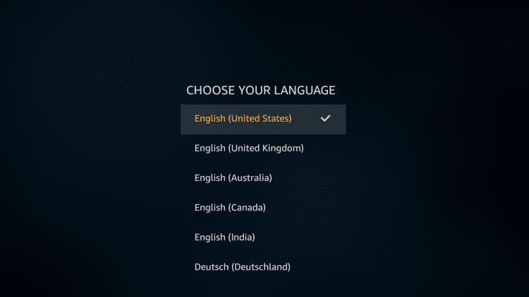 choose language