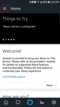 Alexa Home Screen