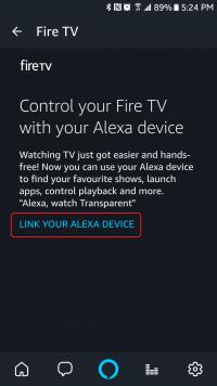 Alexa Link FireTV Menu