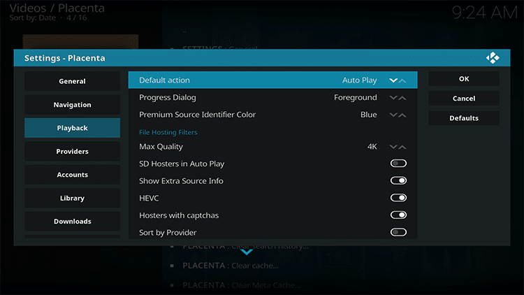 change default action to auto play