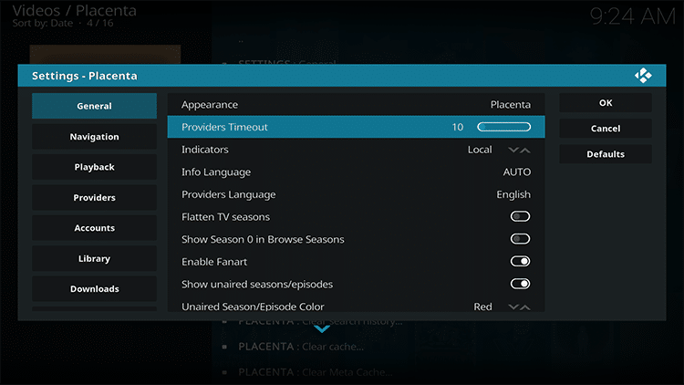 change providers timeout