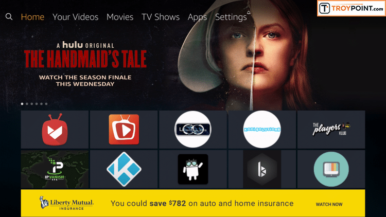 Go to Home screen of your Firestick by clicking Home button on remote