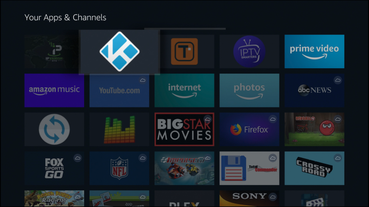 Drop Kodi shortcut where you would like to place it