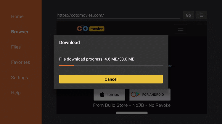 wait for file download