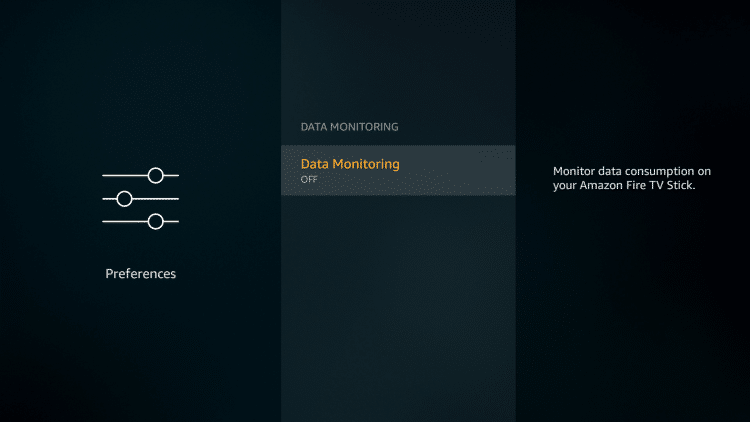Turn off Data Monitoring