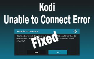 kodi unable to connect