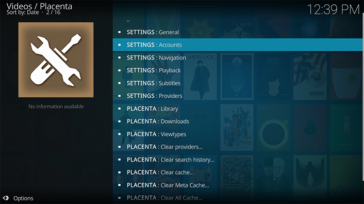 kodi account setup