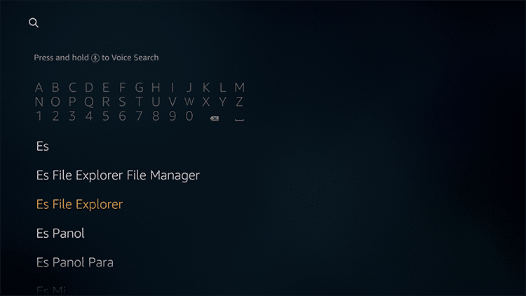 search es file