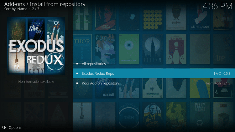 exodus version 8 how to install