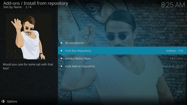 Click Kodi Bae Repository