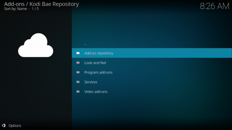 kodi bae repository not working
