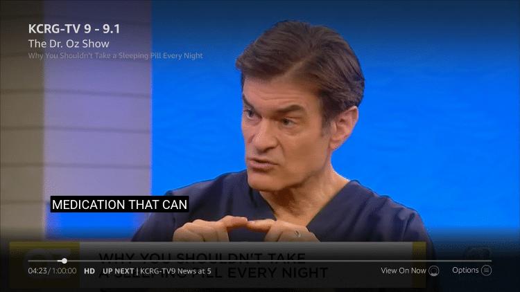 Fire TV Recast Subtitles