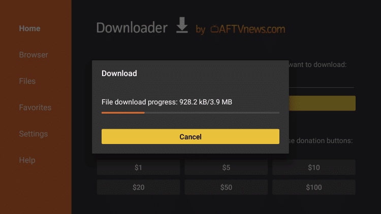 wait for download