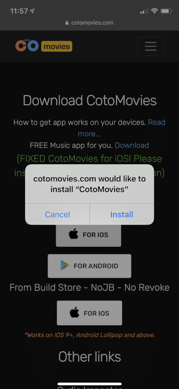 CotoMovies on Firestick/Android Box with Bonus iOS