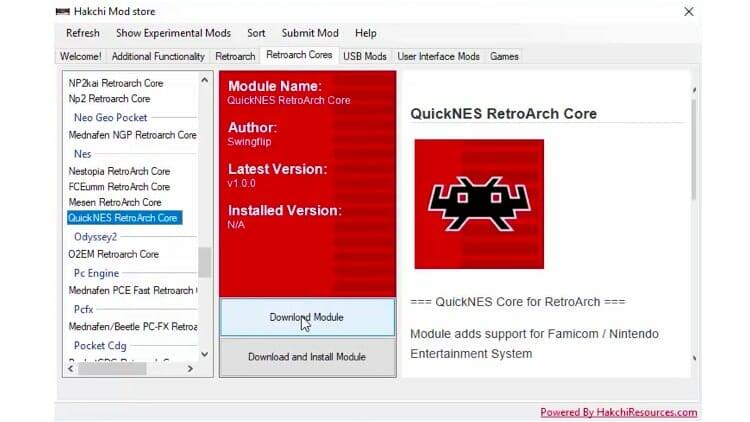 Retroarch Cores Download Module