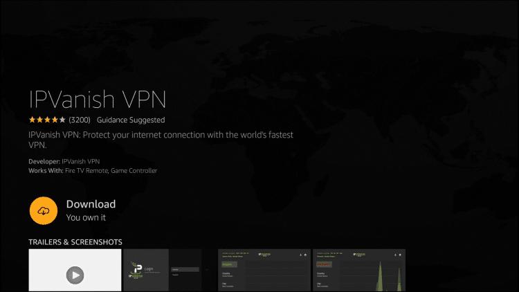 Install IPVanish