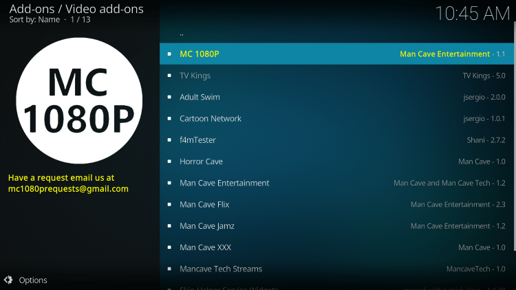 How To Install MC 1080P Kodi Add-On