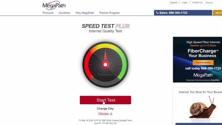 Click Start Test.