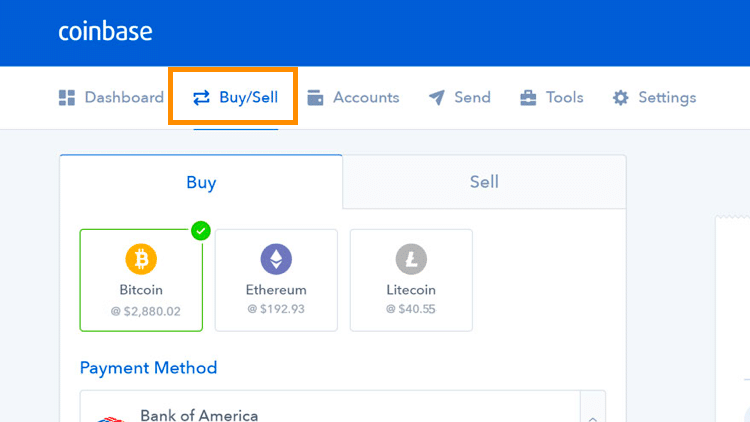 Step 1 - How to Buy Bitcoin on Coinbase (Desktop User)
