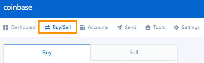 Step 1 - How to Sell Bitcoin on Coinbase (Desktop User)