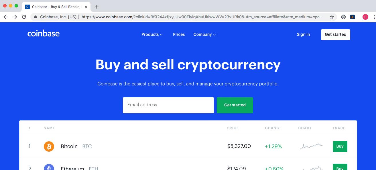 Step 2 - How to Create a Coinbase Account