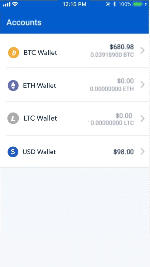 Step 2 - How to Sell Bitcoin on Coinbase (Mobile User (iOS and Android))