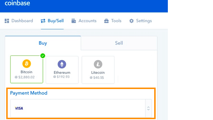 Step 3 - How to Buy Bitcoin on Coinbase (Desktop User)