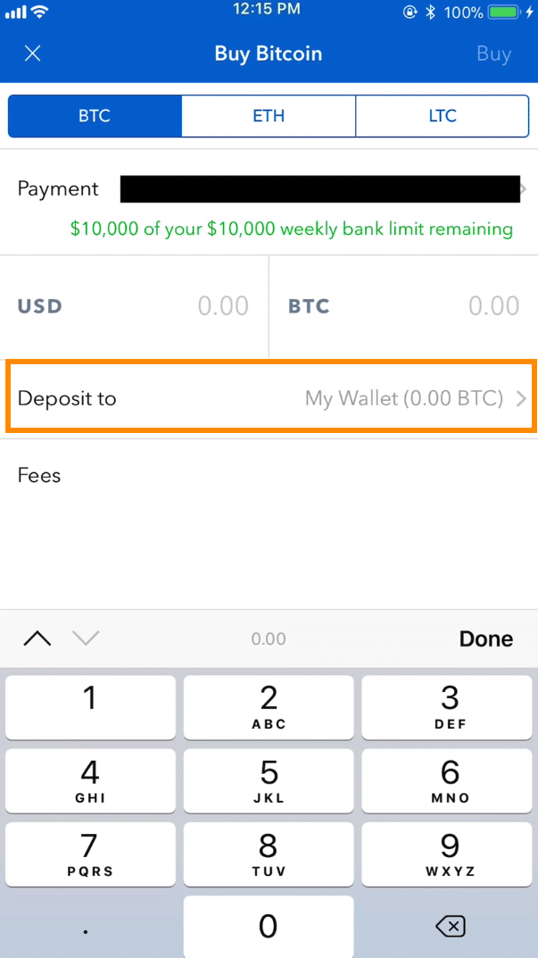 Step 3 - How to Buy Bitcoin on Coinbase Mobile User (iOS and Android))
