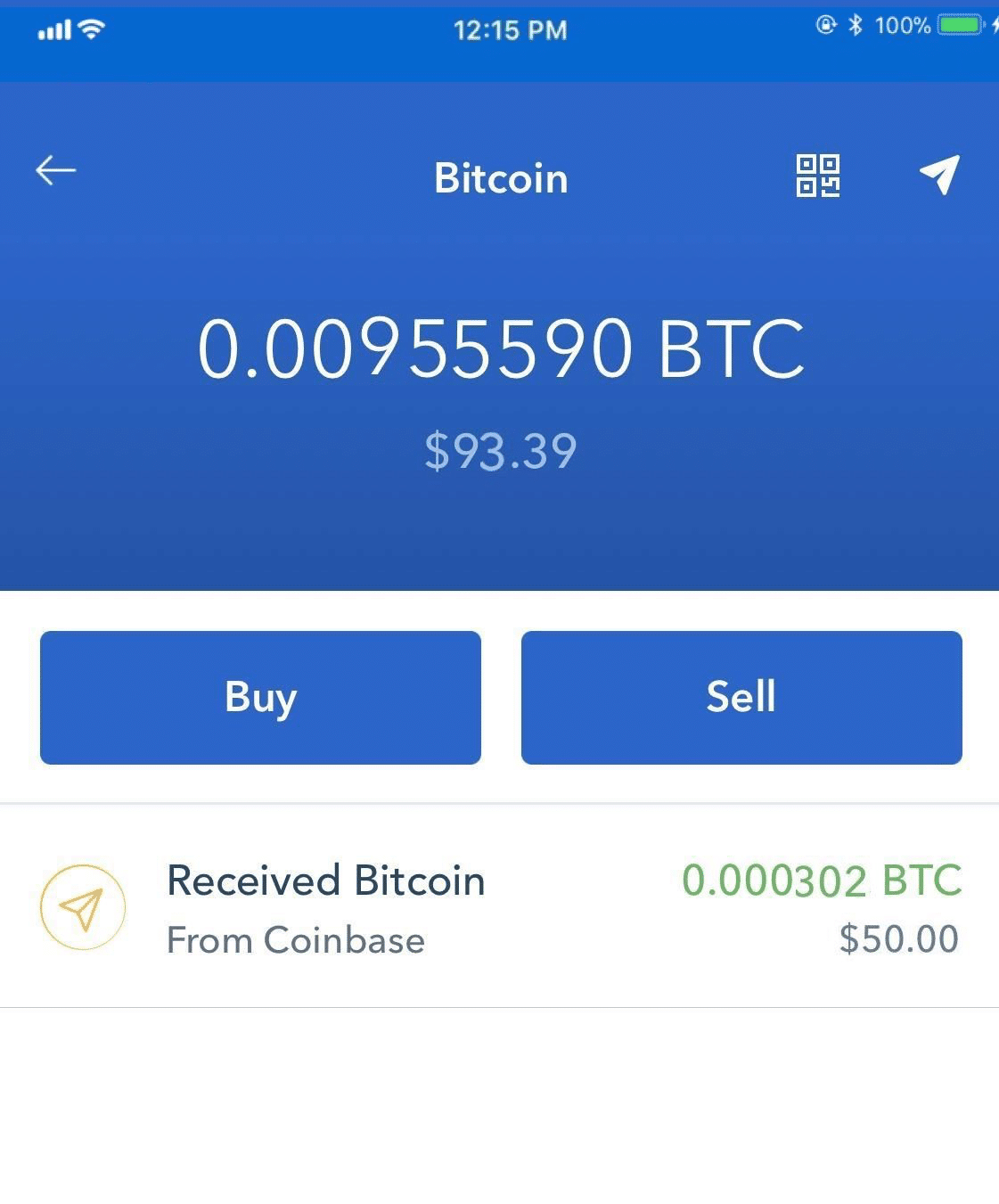 Step 3 - How to Sell Bitcoin on Coinbase (Mobile User (iOS and Android))