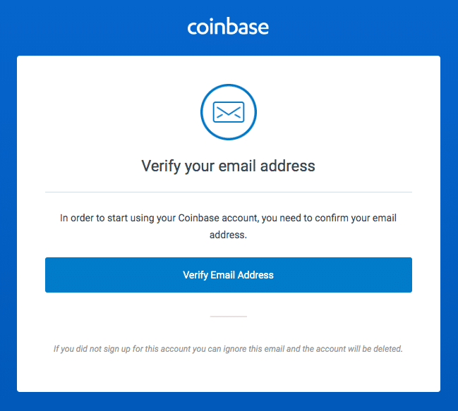 Step 7b - How to Create a Coinbase Account