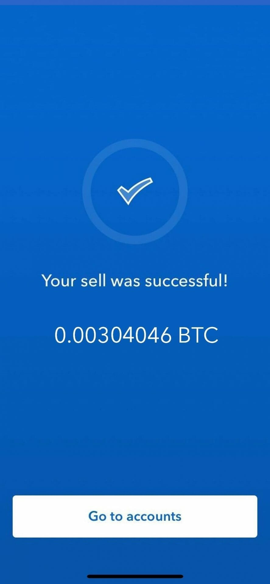 Step 8 - How to Sell Bitcoin on Coinbase (Mobile User (iOS and Android))