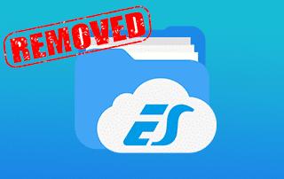 es file explorer removed