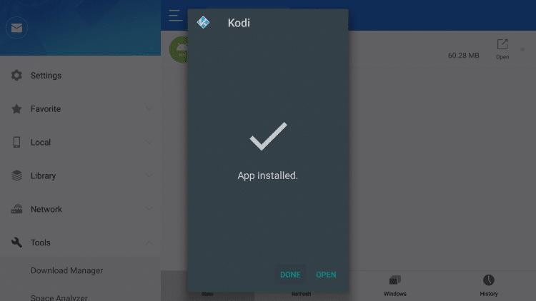 you have installed kodi on firestick by using es file explorer