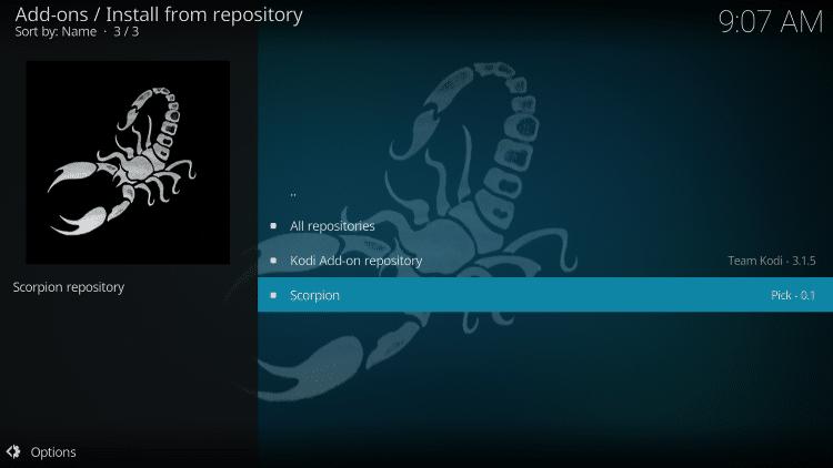 choose scorpion