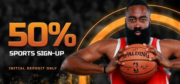 50% sports sign-up