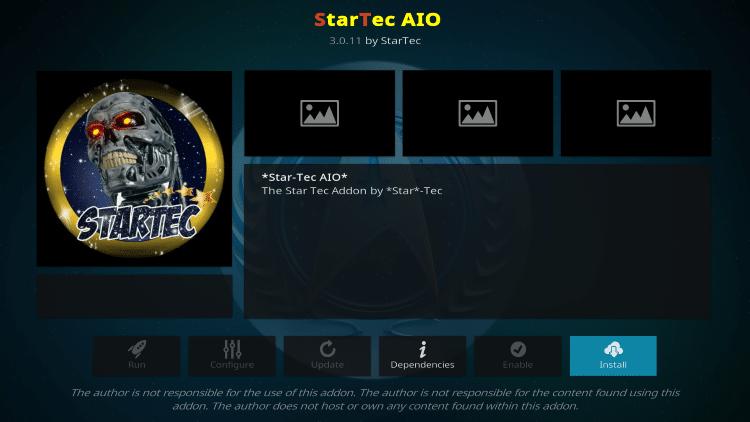 How To Install StarTec AIO Kodi Add-On
