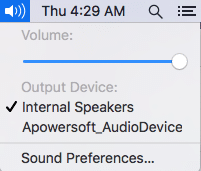 Configure Audio Settings of Your Device - Mac