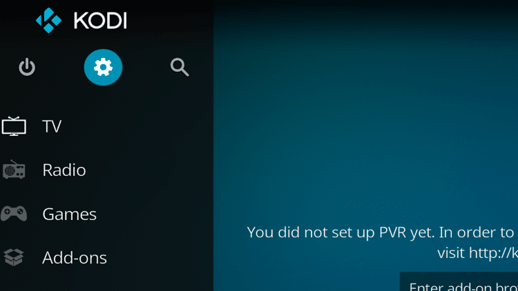 Step 1 - How To Fix Kodi No Sound Error - Check and update the add-on