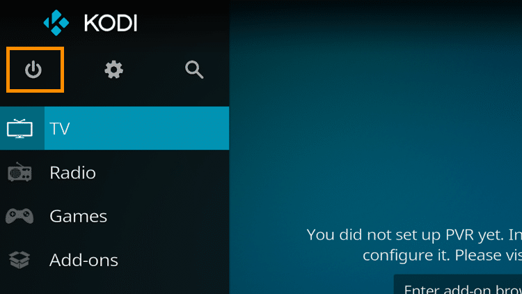 Step 1 - How To Fix Kodi No Sound Error - Restart Kodi How To Fix Kodi No Sound Error - Using the Exit command